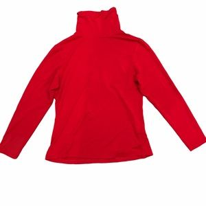 VEX COLLECTION   Red Long Sleeve Turtle Neck Top